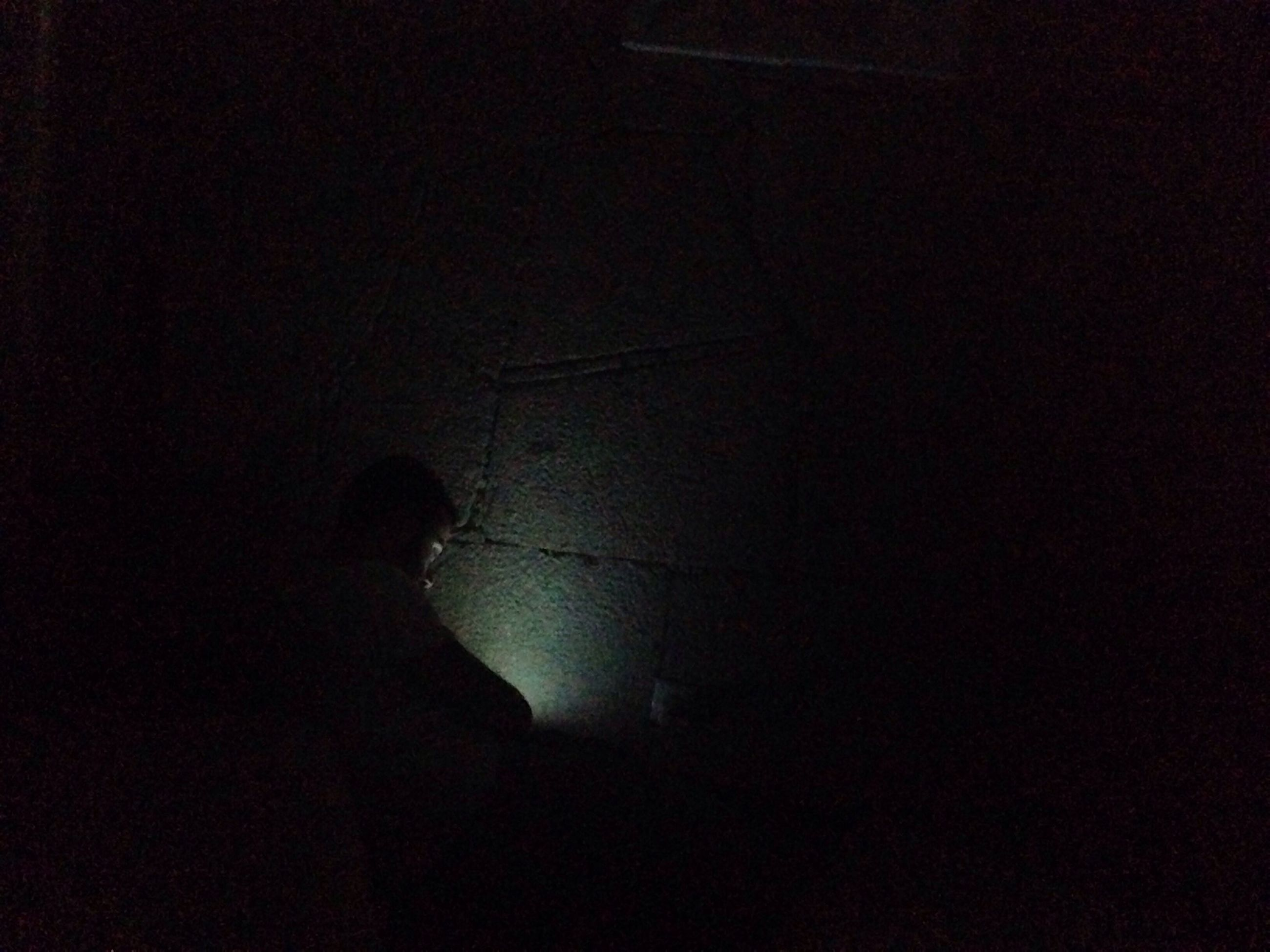 silhouette, night, dark, copy space, lifestyles, men, indoors, low angle view, unrecognizable person, leisure activity, standing, illuminated, light - natural phenomenon, outline, full length, mystery, darkness, person