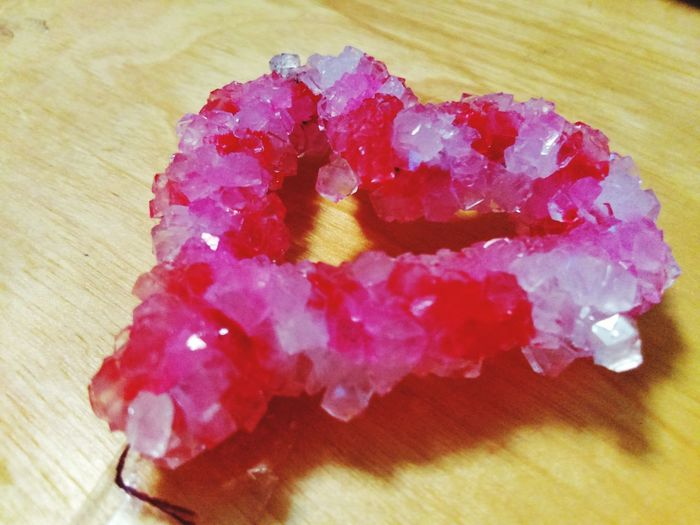 Red No People Pink Color Close-up Indoors  Day Heart Crystal Crystalized Crystal Heart Crafts Valentine's Day