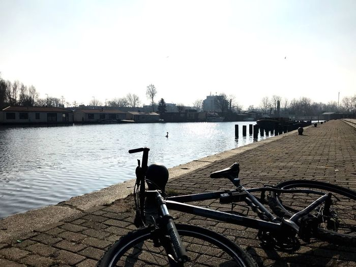 Bicycle Mode Of Transport Water Outdoors Sky Transportation Day Land Vehicle No People Nature Clear Sky
