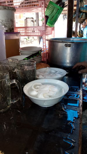 Fresh healthy drinks Close-up Day Es Kelapa Muda Food Food And Drink Freshness Healthy Eating Indoors  No People Plate Table