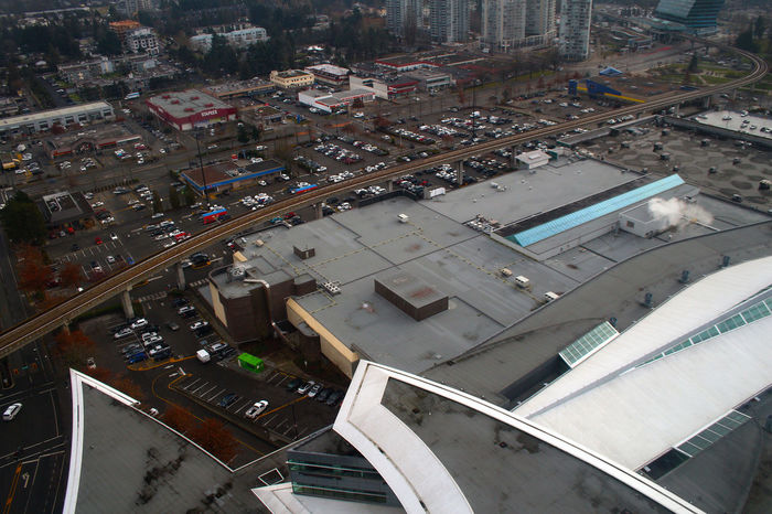 Surrey Central tower looking down from the 23rd floor Surrey B.C. Transportation Building Exterior Day Outdoors No People