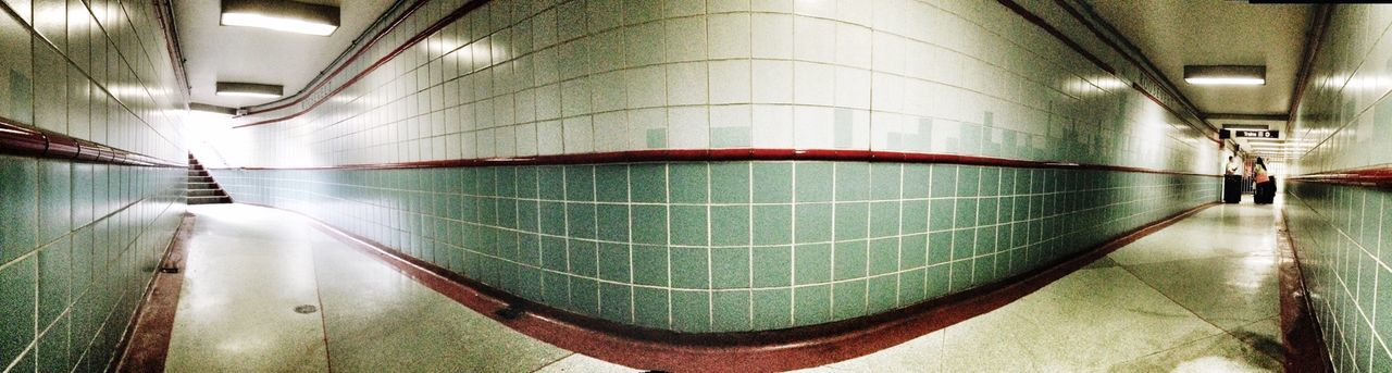 Interior of subway tunnel