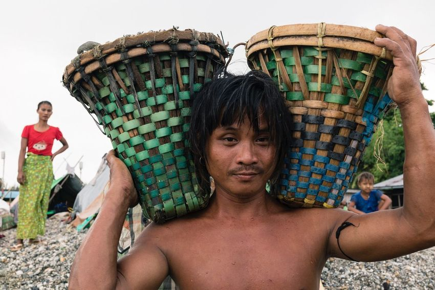 Stone Carrier Environmental Portrait Street Portrait Real People Myanmar