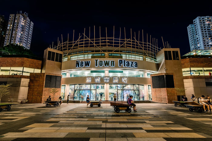 ASIA Hong Kong New Town Plaza Sha Tin Architecture Building Exterior Built Structure City Night Outdoors Travel Travel Destinations