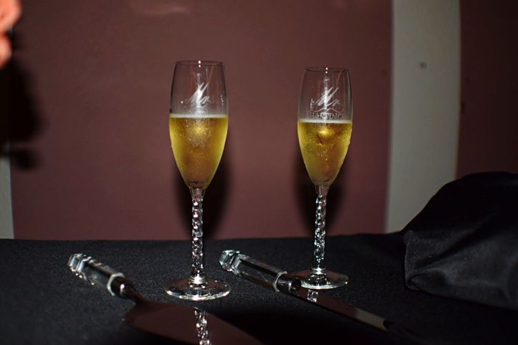 A shot I took for a friends wedding. Refreshment Drinking Glass Wedding Photography Champagne Glasses Indoors  Oregon Mr&Mrs Nikond3300