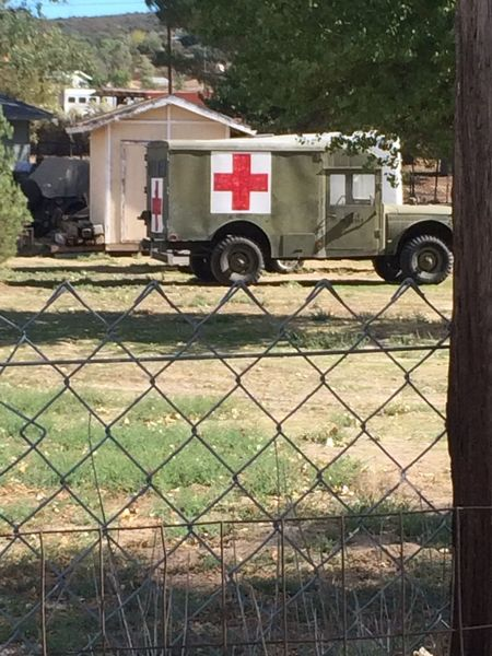 Protection Red Cross Army Jeep History Fence Transportation Chainlink Fence Land Vehicle Outdoors No People Old-fashioned Outdoors Photograpghy  IPhoneography Train Museum Campo Ca EyeEm Gallery Safety Southern Pacific Railroad. The Past