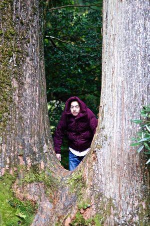 Djamira in the woods. Jamira