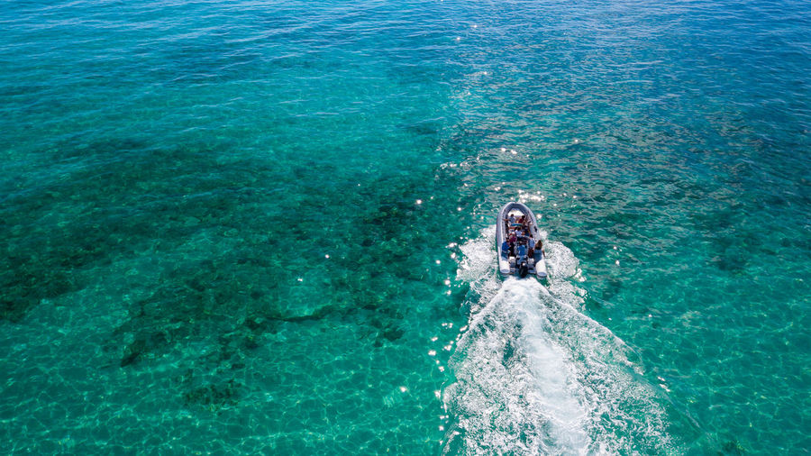 Sea Water Leisure Activity Lifestyles High Angle View Real People Nature One Person Beauty In Nature Motion Sport Swimming Day Turquoise Colored Trip Holiday Blue Underwater Outdoors Swimming Pool