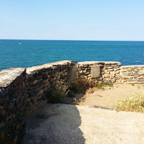 Vue sur la Méditerranée depuis le chemin côtier de Argeles plage à Collioure (Pyrénéesorientales )