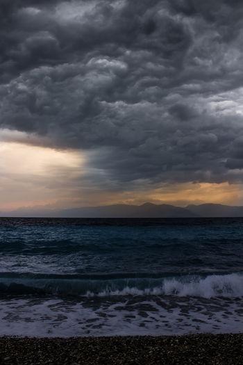 sea on a cloudy