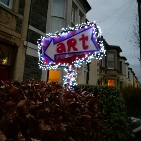 Built Structure Building Exterior Architecture Illuminated Text Night No People City Christmas Decoration Art Street Art Art Sign Open House Urban Surburban Bristol