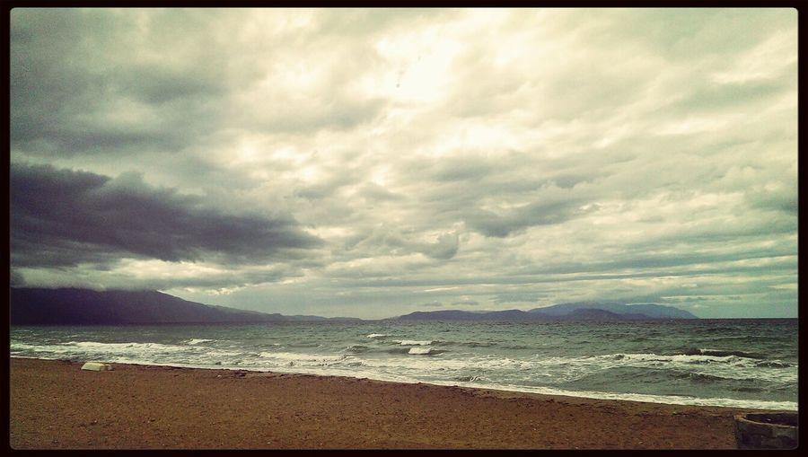 Beach Day Ride A Bike  Cloudy Sky Autumun