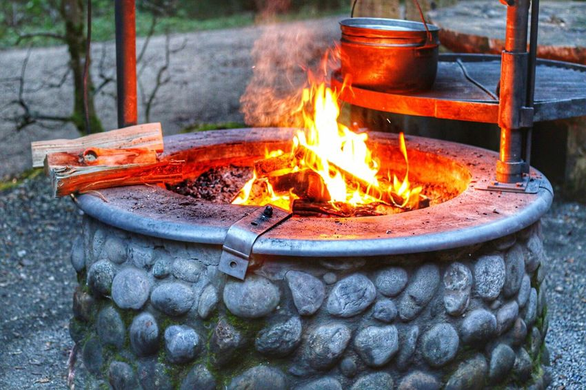Fire - Natural Phenomenon Flame Burning Heat - Temperature Outdoors Fire Pit No People Bonfire Day