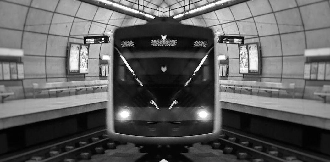 Rail Transportation Public Transportation Transportation Train Mode Of Transportation Indoors  Train - Vehicle Railroad Station Travel No People
