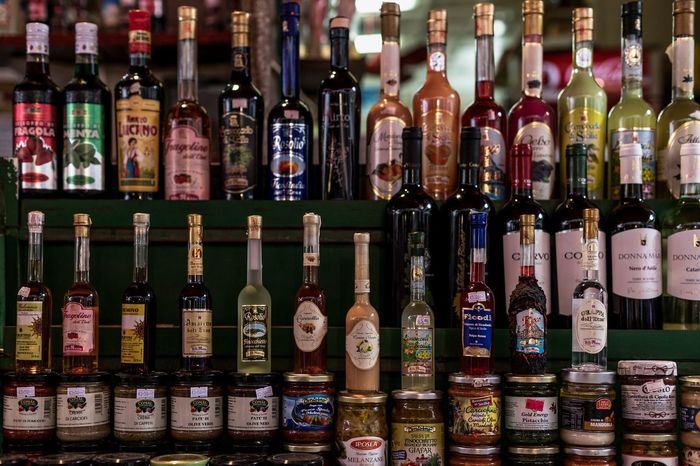 Palermo Mercato Bottle Alcohol Drink Wine Bottle Large Group Of Objects Choice Variation No People Day Food And Drink