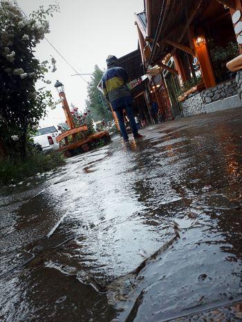 💧 💧 ☂ The rain💦💦 Rain Sky Day Tree Water Slide People