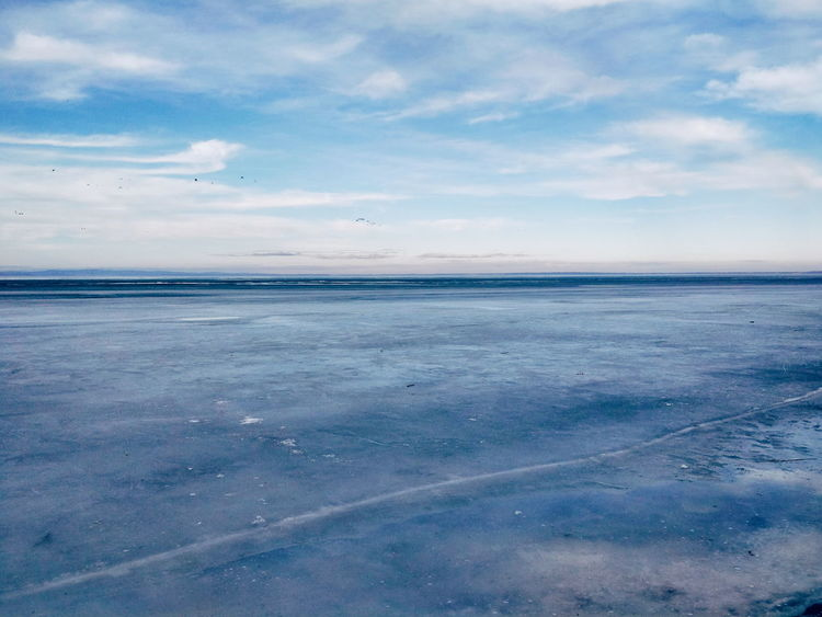 Balaton Beauty In Nature Blue Blue Sky Cloud - Sky Cold Temperature Day Frozen Horizon Over Water Landscape Nature No People Outdoors Scenics Shades Sky Tranquil Scene Tranquility Water Winter