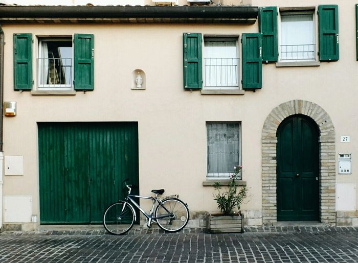 Bicycle City Building Exterior Architecture City Life Travel Tourism Travel Destinations Retro Styled No People DoorsAndWindowsProject Doors With Stories City Street Window Built Structure Tranquil Scene Visual Inspiration EyeEm Best Shots EyeEmNewHere Master_shots EyeEm Selects Masterclass EyeEm Masterclass EyeEm Best Edits Full Frame Breathing Space Investing In Quality Of Life Your Ticket To Europe The Week On EyeEm