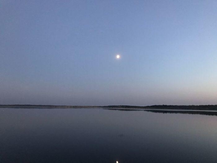 Sunset Sky Moon