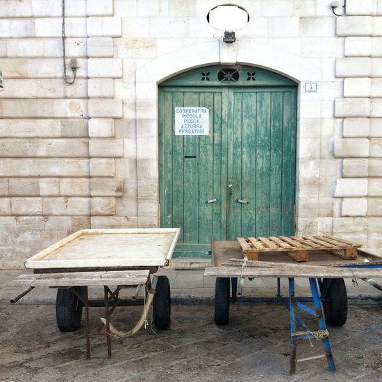 Off Season Waiting for Fresh Fish in Puglia