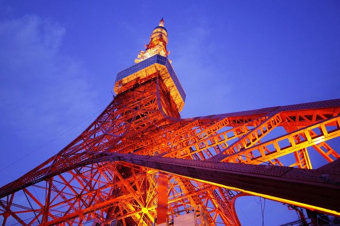 夕暮れ時 東京タワー Tokyo Tower Night Lights Illumination Shaping The Future. Together.