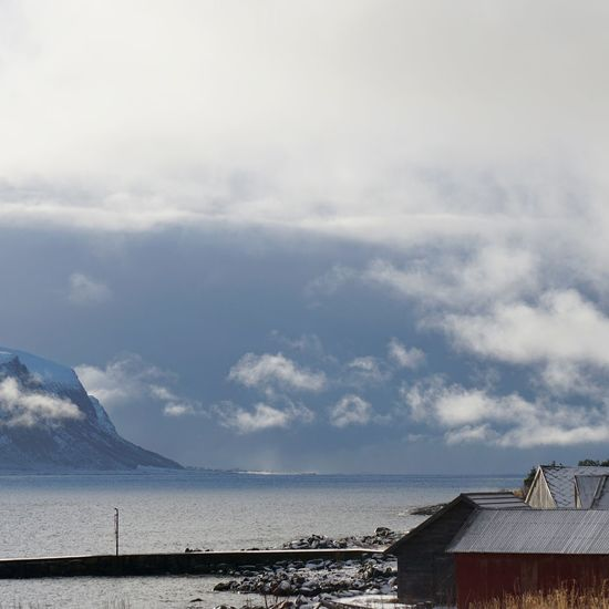 Winter by the sea. Nature Landscape Sea And Sky Seaside Winter Clouds And Sky Eye4photography  EyeEm Best Shots Showcase: February Norway Open Edit Mountains