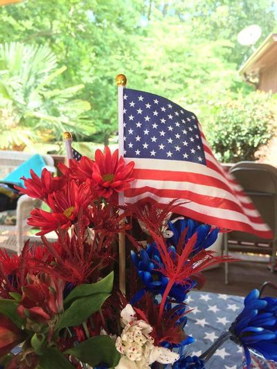 Red, White, and Blue Memorial Day Red White And Blue Flowers Flag Stars And Stripes Flag Thank You For The Sacrifice