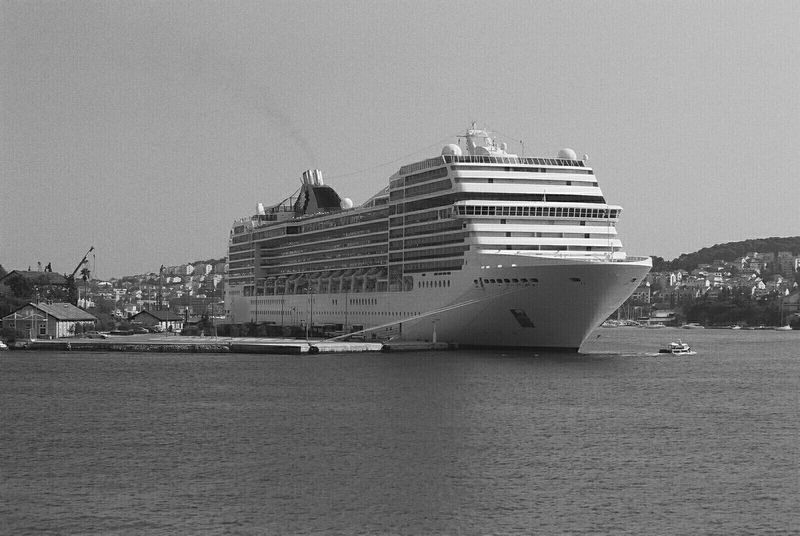 Ship Seaside Analog Photography Black And White Photography Adriatic Sea Cruiser Water White Cityscapes Too Big