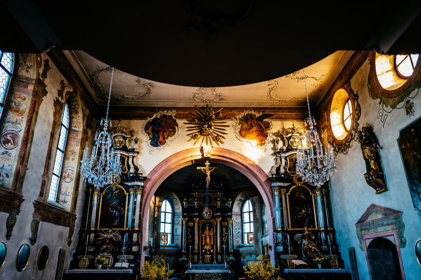 Arch Architectural Column Architecture Building Building Exterior Built Structure Ceiling Church Column Day Entrance Gormund Illuminated Indoors  Kapelle Lighting Equipment Low Angle View No People Place Of Worship Religion Window