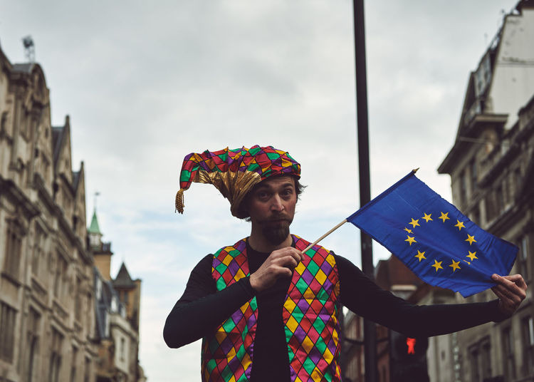 The Peoples Vote March in London - Over 1 million supporters in attendance. Brexit Brexit Protest People People Photography Street Photography Streetphotography One Person Men Building Exterior Multi Colored Real People Day Architecture Built Structure Front View Young Men Standing Males  Looking Away Lifestyles Looking Mid Adult Men Holding Waist Up Outdoors