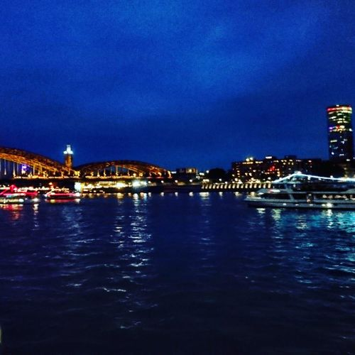 Cologne Illuminated Architecture Night Waterfront City Life Outdoors River Bridge - Man Made Structure Built Structure
