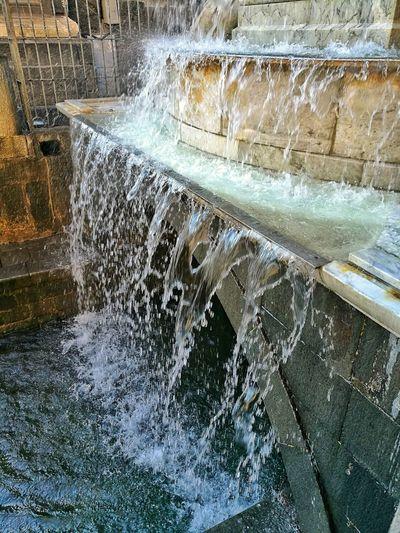 Catania. Fontana dell' Amenano. Sicilia Catania Fountain Amenano Water No People