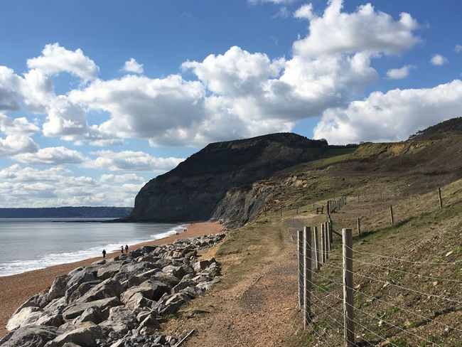 S W Coast Path Golden Cap Beach Sea And Sky Cliffs Seatown Dorset Coast