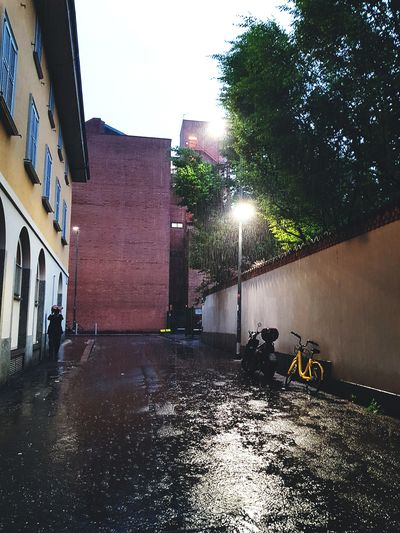 Springtime May Water City Wet Sky Architecture Building Exterior Built Structure Monsoon Rain Drop Rainfall Dripping Torrential Rain Street Light Rainy Season RainDrop Puddle