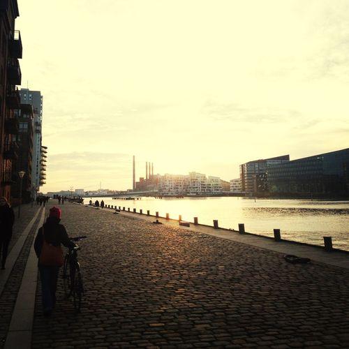 Goldenhour Copenhagen Out For A Walk Riverside