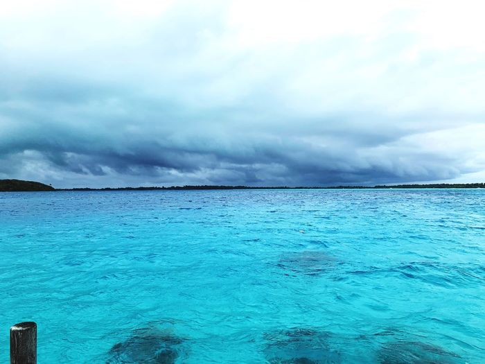Bad Weather Sky Cloud - Sky Water Sea Beauty In Nature Scenics - Nature Waterfront Outdoors Blue Idyllic Tranquility Horizon Over Water Day No People Horizon Land Nature Turquoise Colored