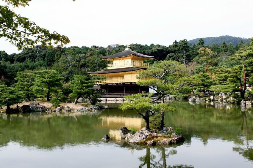 Japan Kyoto Kinkakuji At 鹿苑寺(金閣寺) Kinkaku-ji Temple Gold Golden Shrine Buddhism Rokuon-ji