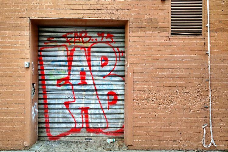 Alleyway grafitti. Fabulous Grafitti Brick Wall Roller Doors