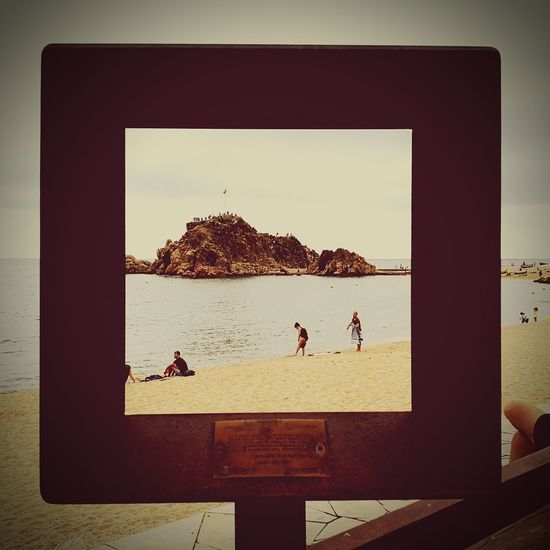 Sea Beach Water Horizon Over Water Sky Day Outdoors Nature Cityscape HuaweiP9 Blanes BlanesTurisme Blanesturismo City Modern The World As I See It Travelingtheworld  SPAIN Nature Beauty In Nature Square Square Pattern The Week On EyeEm