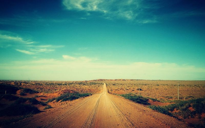 Road The Way Forward Landscape Diminishing Perspective No People Day Mongolia China EyeEmNewHere Lost In The Landscape