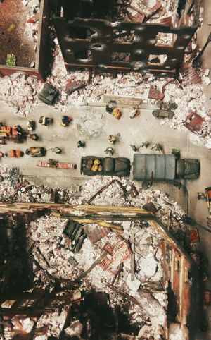 Hamburg Germany🇩🇪 Miniature Second World War Everything Is Bombed Down View Small Craft 1940's Musium Of Miniature