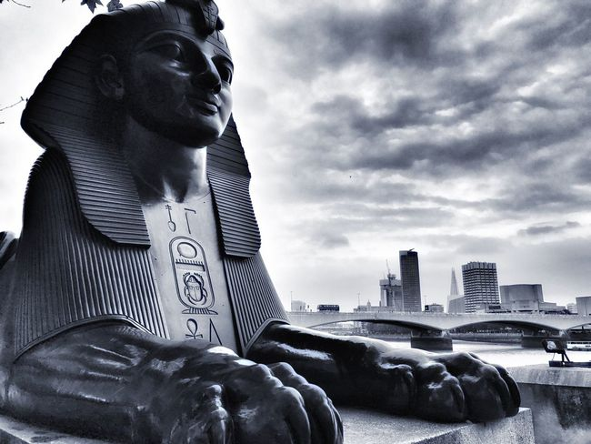 Watching the Skies Statue Egyptian Statue Sfinx London