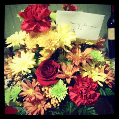 The Flower Derek Sent Me To School..<3 Hesamazing SoSweet Pretty Favcolors lovehim hesthebest