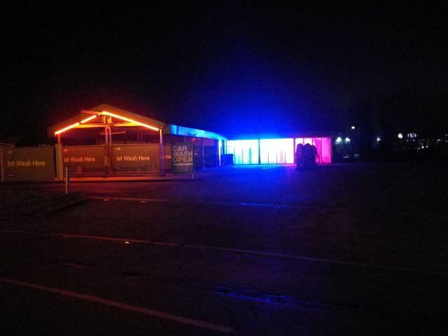 Nightphotography Night Braintree Essex Carwash