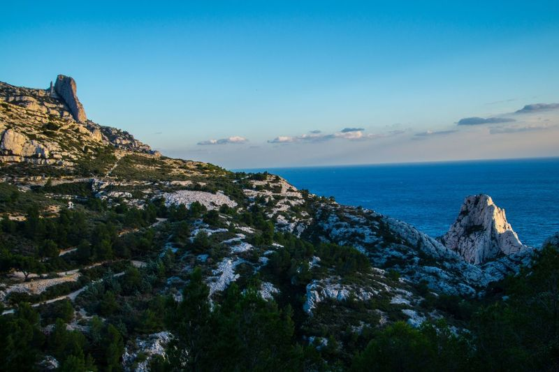 marseille,calanque,bouche du rhone, france Sea Sky Scenics - Nature Water Beauty In Nature Tranquil Scene Rock Tranquility Nature Mountain Horizon Over Water Horizon Land Blue Rock Formation Rock - Object No People Idyllic Non-urban Scene Outdoors Formation