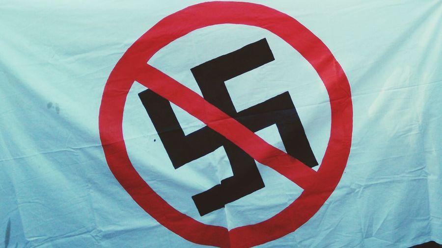 Nazi swastika on fabric