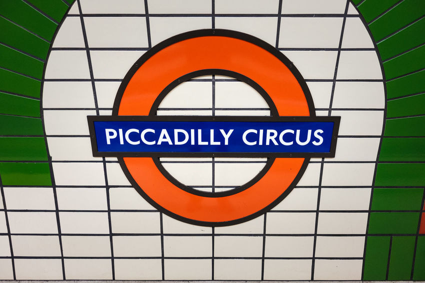 Piccadilly Circus Circle Close-up Communication Day Indoors  No People TAB Text