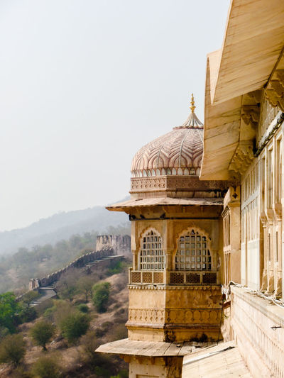 Exterior of Amer Fort, Jaipur, Rajasthan, India Fort Amber Wanderlust Tourism Iconic Buildings Old Buildings Palace Tourist Attraction  Tourism Façade Windows Fort Amber India Architecture Nature Sky Architectural Detail Travel Day History Outdoors Mountain Dome Travel Photography No People Travel Destinations Building Exterior Built Structure