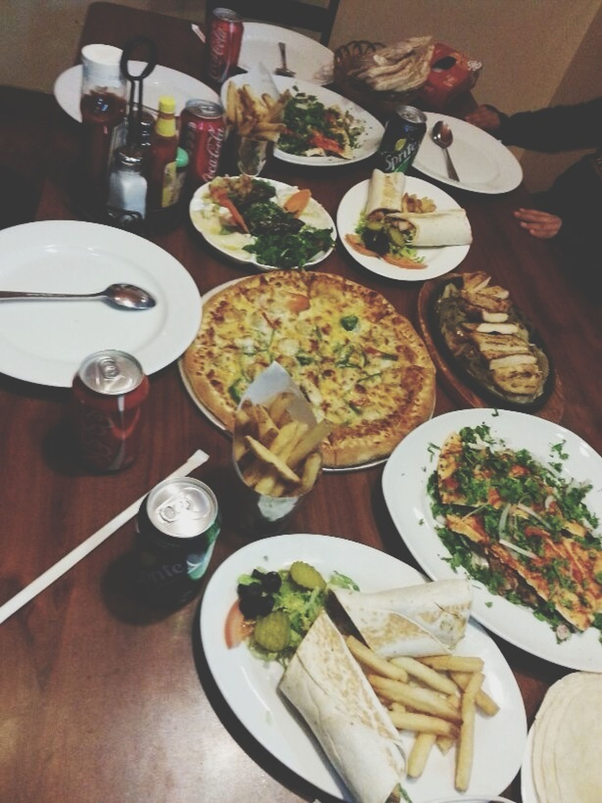 food and drink, indoors, table, food, plate, freshness, ready-to-eat, still life, healthy eating, drink, meal, high angle view, serving size, bowl, fork, served, salad, restaurant, drinking glass, refreshment