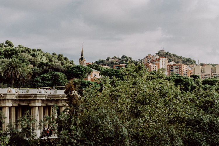 Barcelona Church EyeEm Best Shots EyeEm Nature Lover Green Park Guell Taking Photos Travel Walking Around Architecture Building Building Exterior Built Structure City Cloud - Sky Exterior Eye4photography  Growth Nature Outdoors Plant Sky Travel Destinations Tree Urban